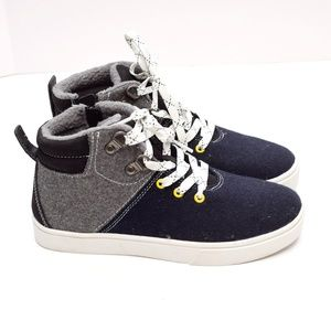 Cat /& Jack Toddler Boys High Top Blue Sneakers Size 6,7,8,9,10,11,12